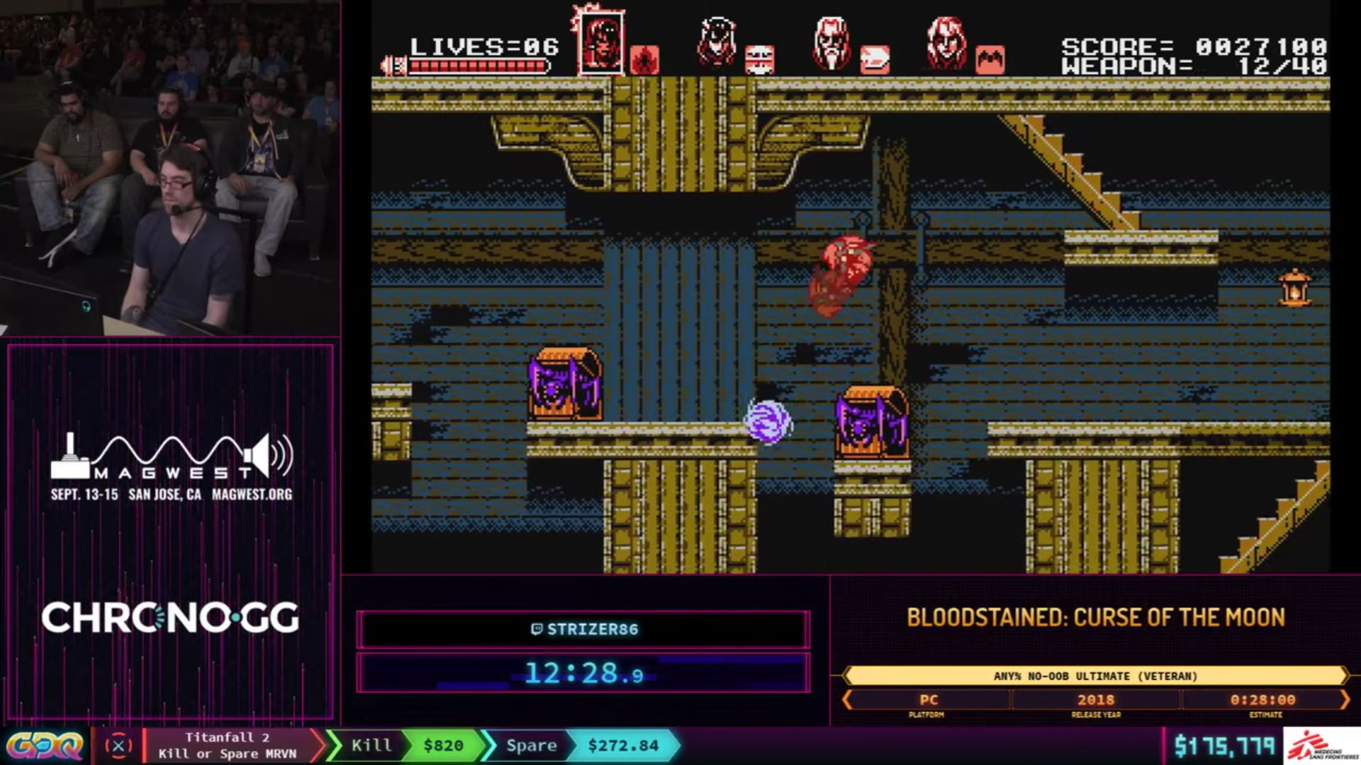 Bloodstained: Curse of the Moon Any% No OOB Ultimate Veteran