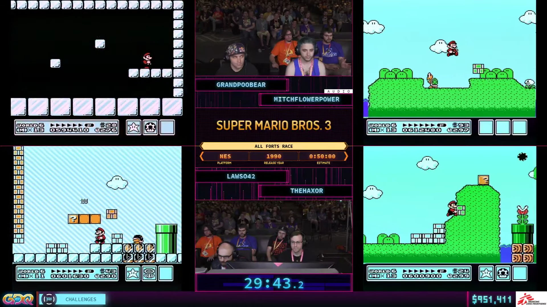 Super Mario Bros. 3: All Forts Race