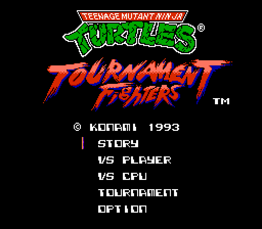 TMNT Tournament Fighters on the NES