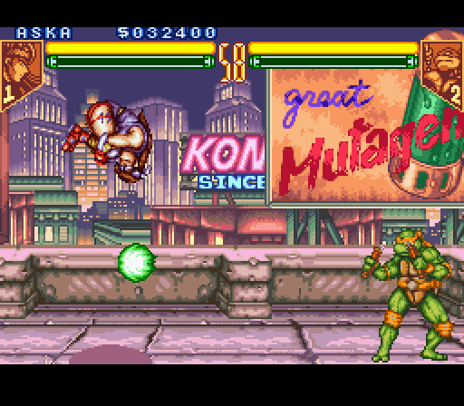 TMNT Tournament Fighters on the SNES